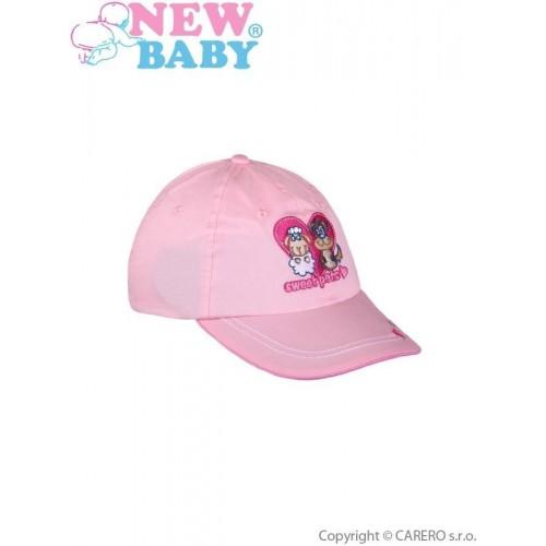 Letní dětská kšiltovka New Baby Sweet Pets světle růžová Růžová 98 (2-3r)