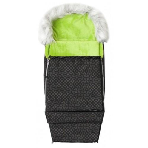 Emitex zimní fusak COMBI FOX, černý/limeta