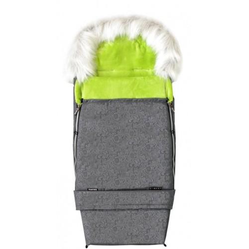 Emitex zimní fusak COMBI FOX, šedý/limeta