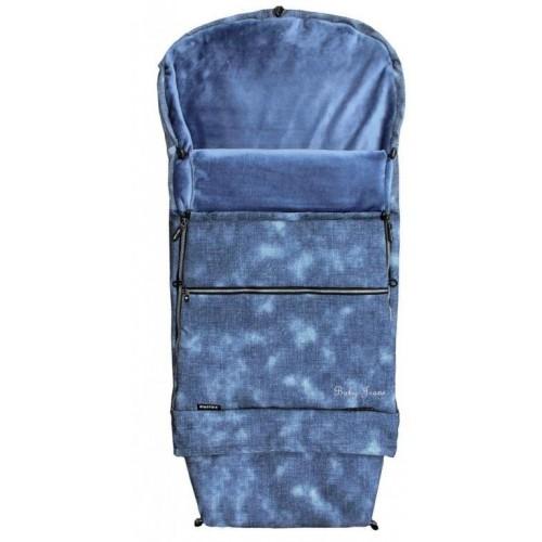 Emitex zimní fusak COMBI JEANS, velvet modrý