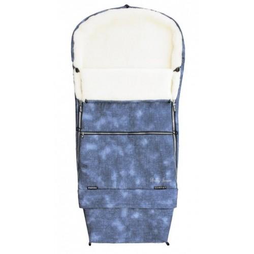 Emitex zimní fusak COMBI JEANS, kožich modrý