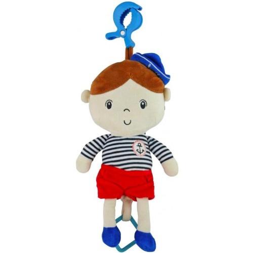 Edukační hrající plyšová panenka Baby Mix námořník kluk