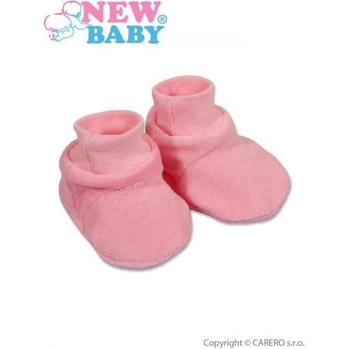 Dětské bačkůrky New Baby růžové Růžová 62 (3-6m)