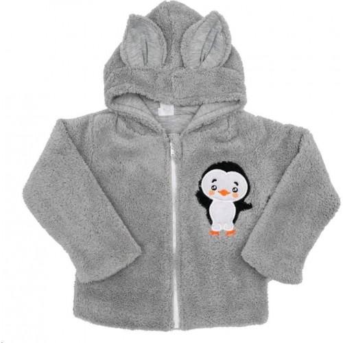 Zimní dětská mikina New Baby Penguin šedá Šedá 92 (18-24m)