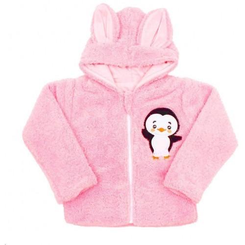 Zimní dětská mikina New Baby Penguin růžová Růžová 74 (6-9m)