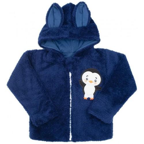 Zimní dětská mikina New Baby Penguin tmavě modrá Modrá 98 (2-3r)