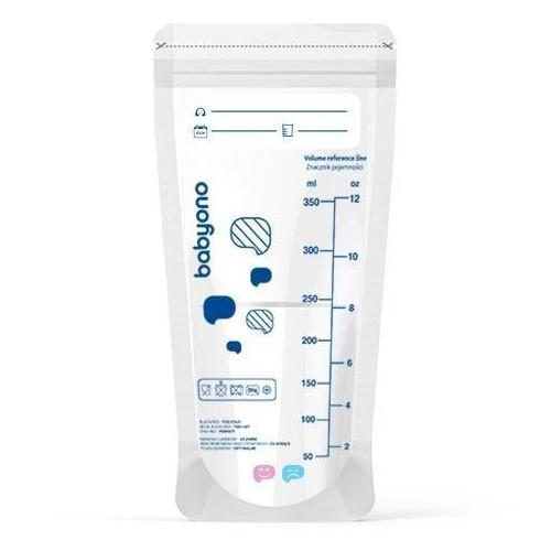 Sáčky na mateřské mléko s indikátorem tepla, 350ml, 20ks