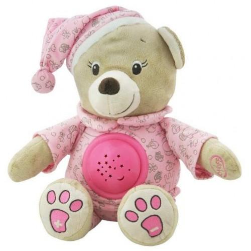 Plyšový medvídek s projektorem Baby Mix růžový