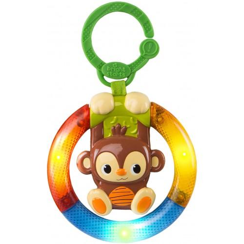Hračka hudební, svítící na C kroužku Shake&Glow opička 3m+