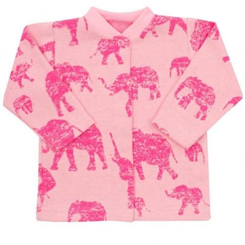 Kojenecký kabátek Baby Service Sloni růžový Růžová 56 (0-3m)
