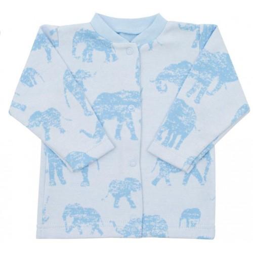 Kojenecký kabátek Baby Service Sloni modrý Modrá 56 (0-3m)