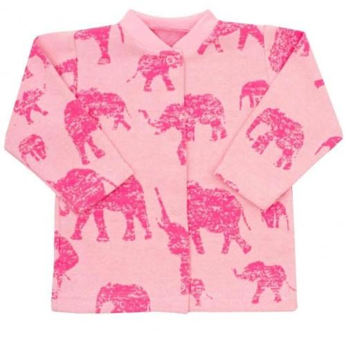 Kojenecký kabátek Baby Service Sloni růžový Růžová 62 (3-6m)