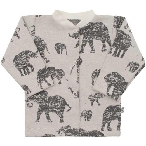 Kojenecký kabátek Baby Service Sloni šedý Šedá 56 (0-3m)