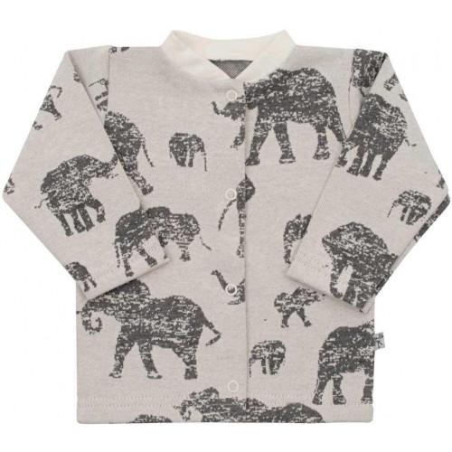 Kojenecký kabátek Baby Service Sloni šedý Šedá 68 (4-6m)