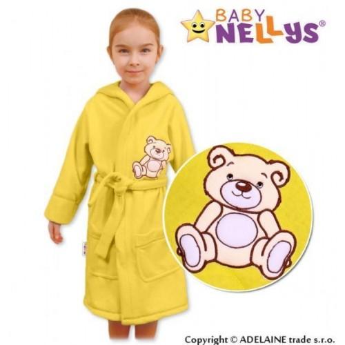 Baby Nellys Dětský župan - Medvídek Teddy Bear - krémový, 86 (12-18m),92 (18-24m)