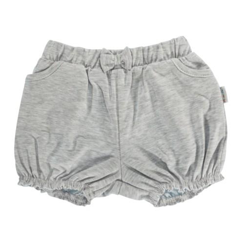 Dětské bavlněné kalhotky, kraťásky s mašlí Mamatti Bubble Boo - šedé, vel. 104, 104