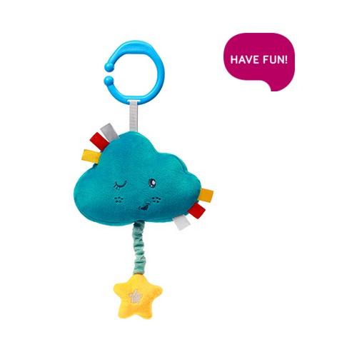 BabyOno Plyšový mráček s hracím strojkem Lullaby Cold - modrý