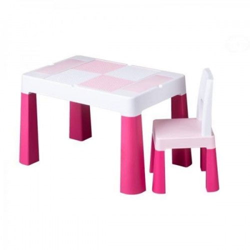 Tega Baby Sada nábytku pro děti Multifun - stoleček a židlička - růžová