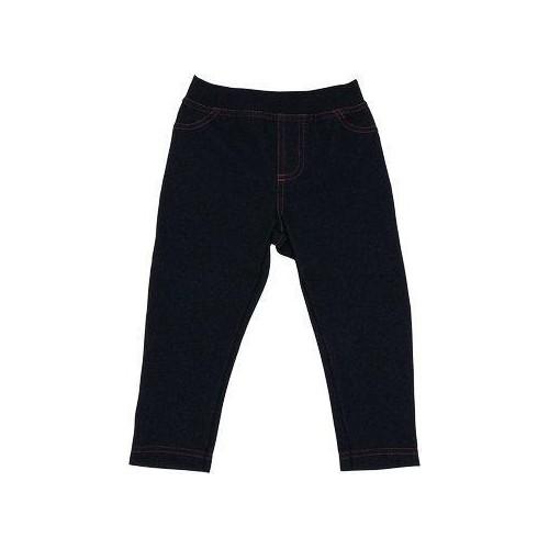 Mamatti Bavlněné jednobarevné legíny - jeans, 74 (6-9m)