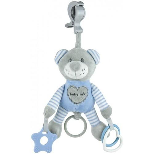 Plyšová hračka s vibrací Baby Mix medvěd modrý
