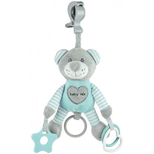 Plyšová hračka s vibrací Baby Mix medvěd mátový