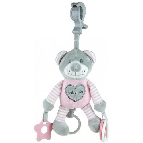 Plyšová hračka s vibrací Baby Mix medvěd růžový