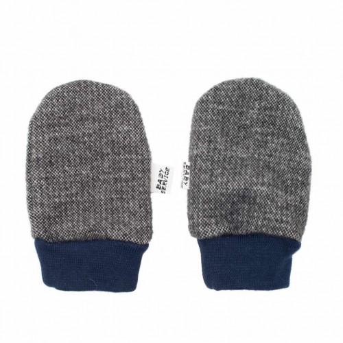 Zimní kojenecké rukavičky Baby Service Retro šedé Šedá 0-6 m