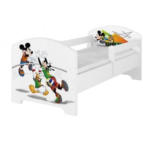 BabyBoo Dětská postel Disney - Mickey Ready - bílá, s matrací, 140x70