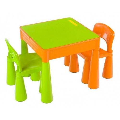 Tega Baby TEGA Sada nábytku pro děti - stoleček a 2 židličky - oranž/zelená