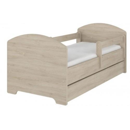 NELLYS Dětská postel HELI v barvě světlý dub s šuplíkem + matrace zdarma. 160x80, 160x80