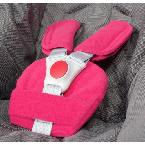 Univerzální souprava ByBoom polstrování bezpečnostních pásů fuchsie