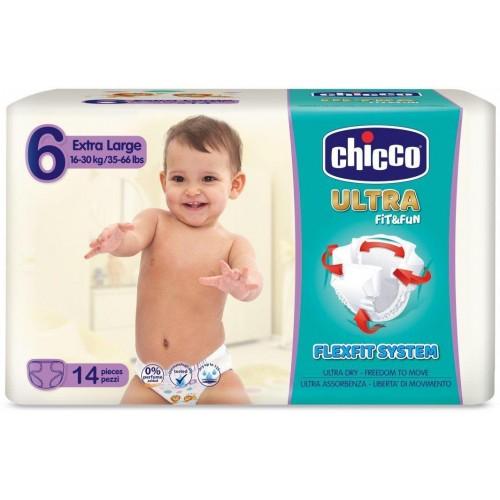 Jednorázové pleny Chicco Ultra Extra Large 16-30kg 14ks