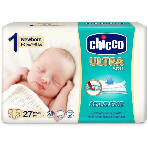 Jednorázové pleny Chicco Ultra Newborn 27ks
