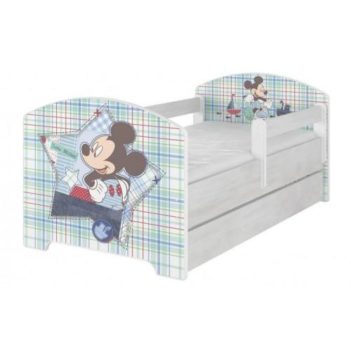 BabyBoo Dětská postel Disney s šuplíkem - Mickey Mouse, D19, 140x70