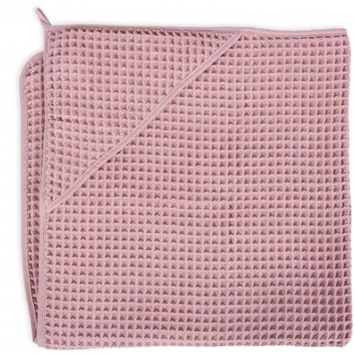 CEBA Osuška s kapucí Froté Waffle Line 100 x 100 Silver Pink Ceba