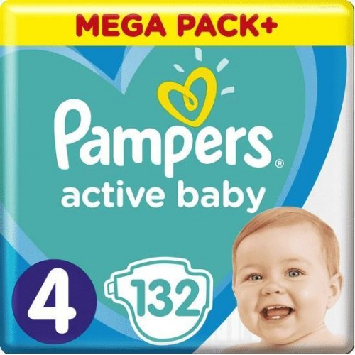 Plenky Active Baby 4 MAXI 9-14kg 132ks Pampers