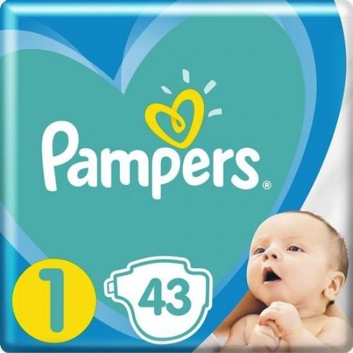 Plenky New Baby-Dry 1 NEWBORN 2-5kg 43ks Pampers