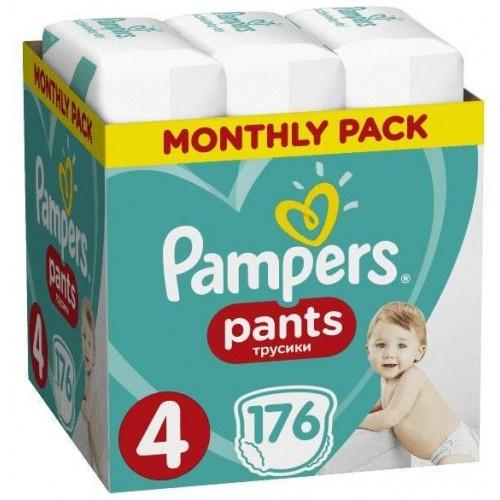 Měsíční zásoba plenkových kalhotek ActivePants 4 MAXI 9-15kg 176ks Pampers