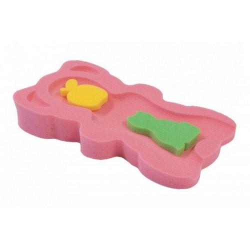 BADO Matračka - houba ke koupání miminek UNI - Růžová
