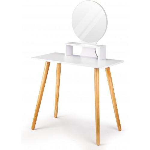 Kosmetický stolek ModernHome se zrcadlem a stoličkou