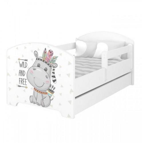 BabyBoo Dětská postel 140 x 70cm -  Hippo, 140x70