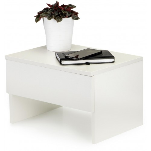 Noční stolek ModernHome se šuplíkem bílý