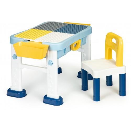 Multifunkční dětský hrací stůl Ecotoys 6v1 a židle