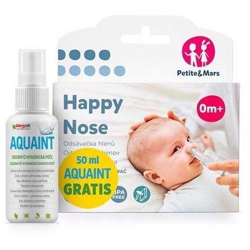 PETITE&MARS Odsávačka nosních hlenů na vysavač Happy Nose 0 m + DÁREK Aquaint 50 ml