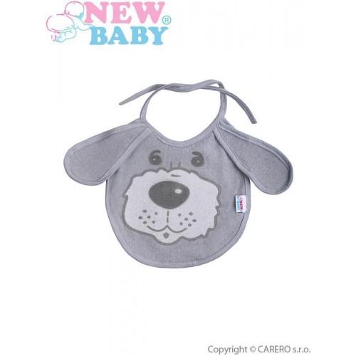 Dětský bryndák New Baby šedý Šedá