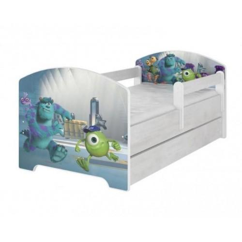 BabyBoo Dětská postel 140 x 70cm -  Monsters, 140x70