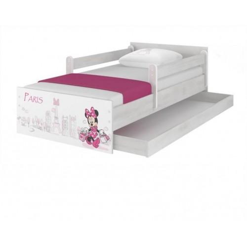 BabyBoo Dětská postel Disney - MAX Minnie Paris - s matrací, 160 x 80 cm, 160x80