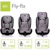 Autosedačka 4Baby Fly-fix ISOFIX 9-36 kg 2021 Graphite