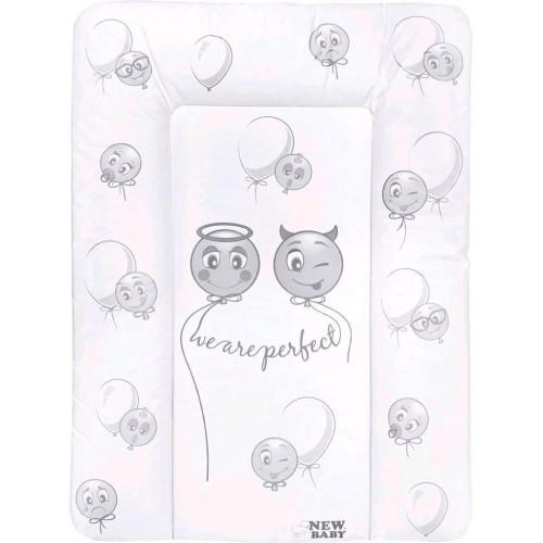 Přebalovací podložka měkká New Baby Emotions bílá 70x50cm