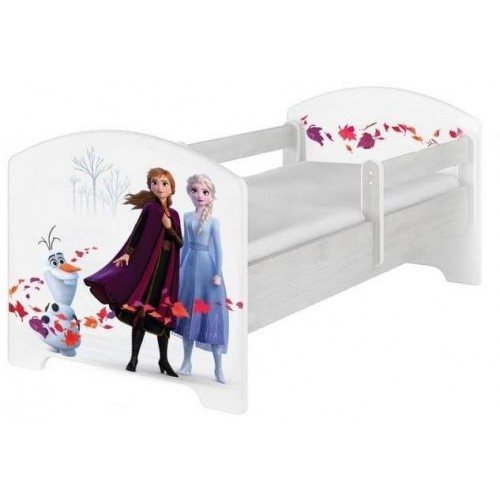 BabyBoo Dětská postel 140 x 70cm Disney - Frozen, bílá, norská sosna, 140x70